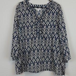 BeachLunchLounge BOHO blouse top size XL